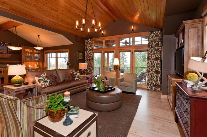 Rustic Family Room by Angela Todd Designs