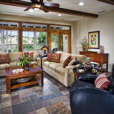 Eclectic Family Room by Lori Hollis