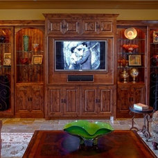 Tropical Family Room by Champions Remodeling