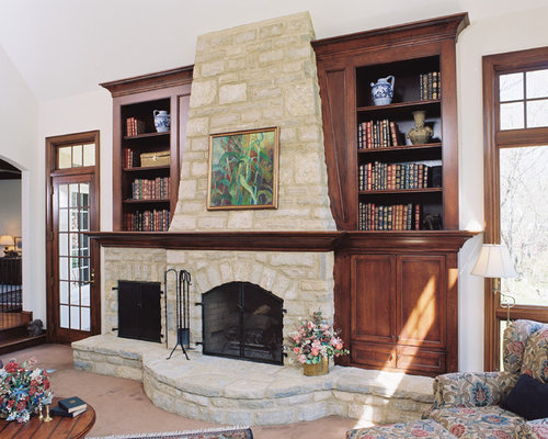 Fireplace Bookcases Home Design Ideas Remodel