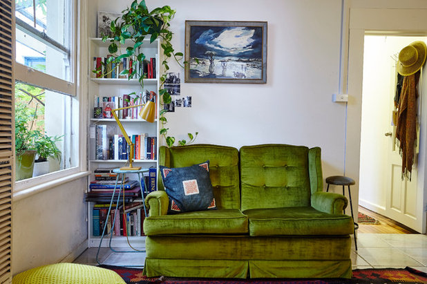 Traditional Family Room by Michelle Jarni