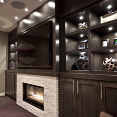 contemporary media room by Urban Abode