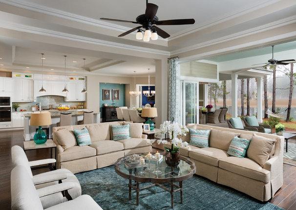 Transitional Family Room by Arthur Rutenberg Homes