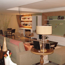 Contemporary Family Room by Karla Marques
