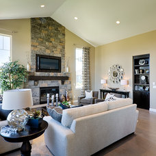Transitional Family Room by Sopris Homes