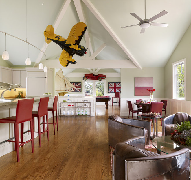 Eclectic Family Room by Kensington & Associates