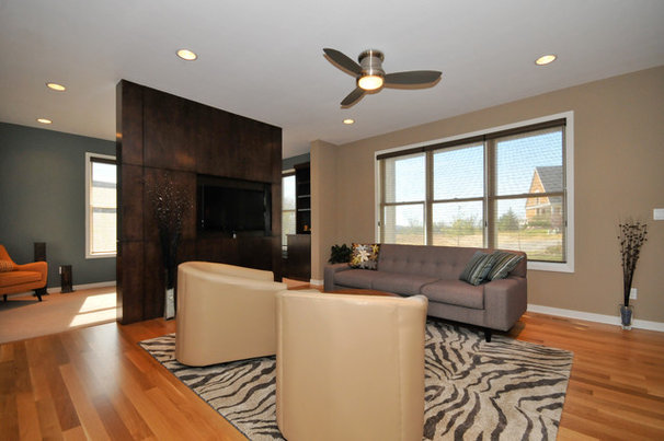 Contemporary Family Room by Vision Homes & Remodeling