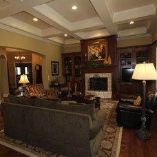Traditional Family Room by McReynolds Designs
