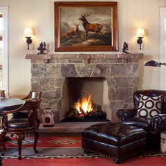 traditional family room by Ashley Campbell Interior Design