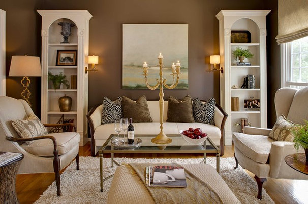 Traditional Family Room by McCroskey Interiors