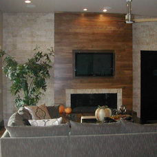 Contemporary Family Room by Macaluso Designs