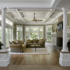 traditional family room by McKay Architects