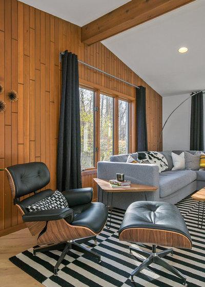 Midcentury Family Room by CVI Design - Carly Visser