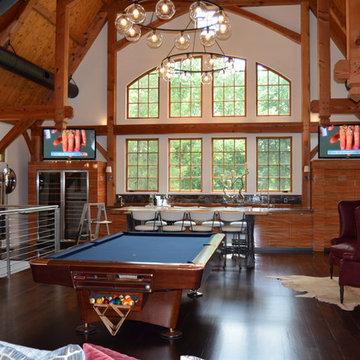 Media/Game Room - Converted Barn in Harding, NJ
