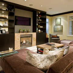 contemporary media room by Garret Cord Werner