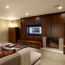 Contemporary Family Room by Gavin Design