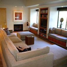 Contemporary Family Room by InterDesign Studio