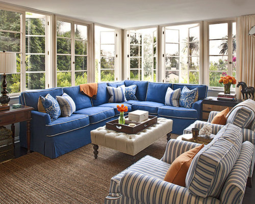 Blue Denim Sectional | Houzz
