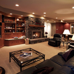 traditional media room by Kaufman Homes, Inc.