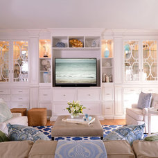 Traditional Family Room by Elle Cole & Associates