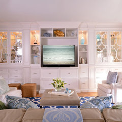traditional family room by Alexis Hunter & Associates