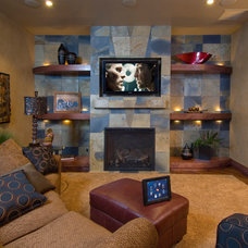 Traditional Family Room by Colorado Media Systems