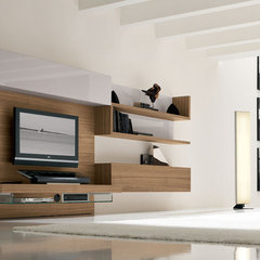 modern media room by usona