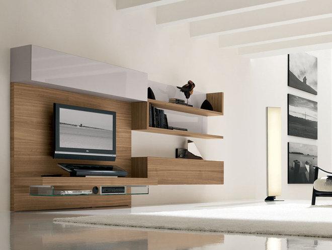 Modern Family Room by usona