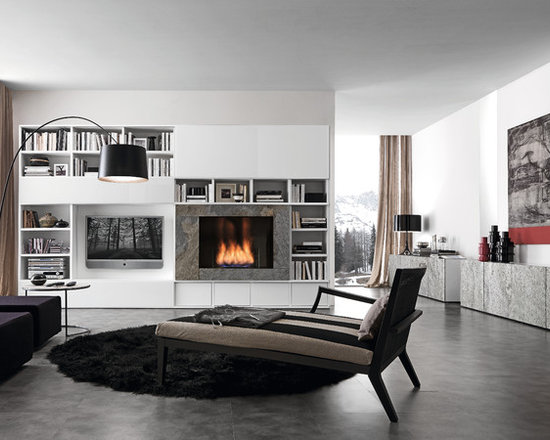 Living Room With Fireplace And Tv On Opposite Walls tv fireplace opposite wall | houzz