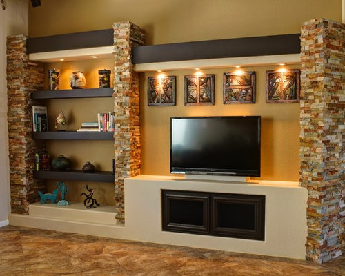 Drywall Entertainment Center | Houzz