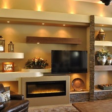 Contemporary Family Room by Thunderbird Custom Design