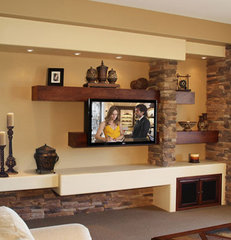 contemporary family room by Stone Creek Furniture - Kitchen & Bath