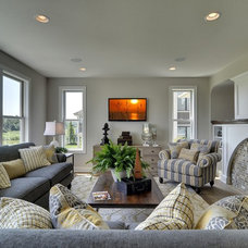 Traditional Family Room by Wooddale Builders