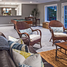 Traditional Family Room by Andrea Braund Home Staging & Design
