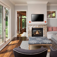Contemporary Family Room by John Kraemer & Sons