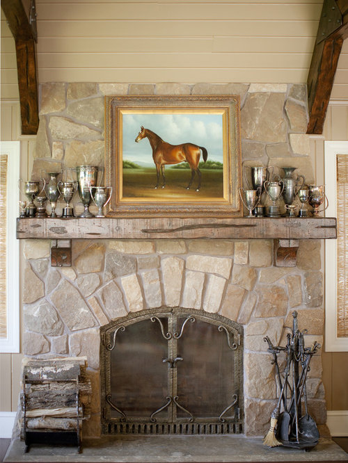 Inspiration for a timeless family room remodel in Minneapolis with a stone fireplace  surroundReclaimed Wood Fireplace Mantel   Houzz. Old Wood Fireplace Mantels. Home Design Ideas