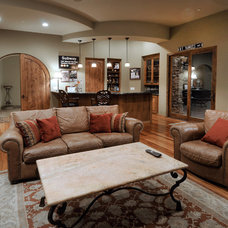 Southwestern Family Room by Soloway Designs Inc | Architecture + Interiors
