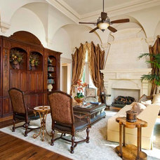 Traditional Family Room by AVID Associates LLC