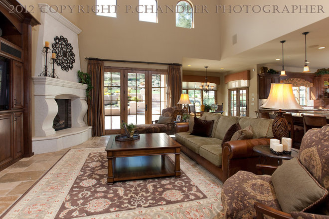 Mediterranean Family Room by P. Chandler, Photographer