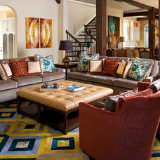 eclectic family room by Astleford Interiors, Inc.