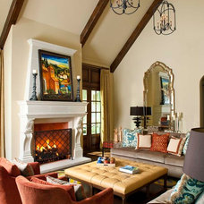 Mediterranean Family Room by Astleford Interiors, Inc.