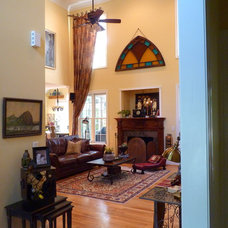 Mediterranean Family Room by Debbiedoo's
