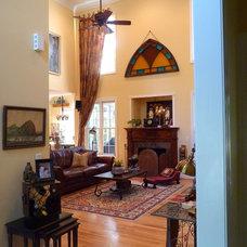Mediterranean Family Room by Debbiedoo's