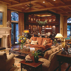 Mediterranean Family Room by Marc-Michaels Interior Design