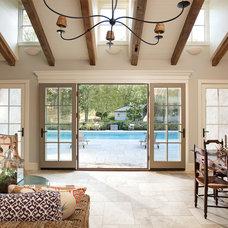 Mediterranean Living Room by Nautilus Architects LLC