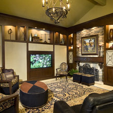 Mediterranean Family Room by Robeson Design