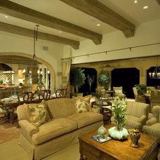 Mediterranean Family Room by Romanza Interior Design