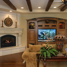 Mediterranean Family Room by Lee Construction