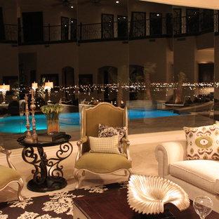 Mediterranean style family room