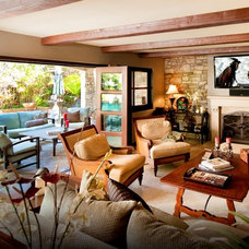 Mediterranean Family Room by Morey Remodeling Group